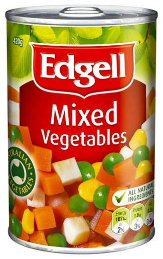 MIXED VEGETABLES 420GM