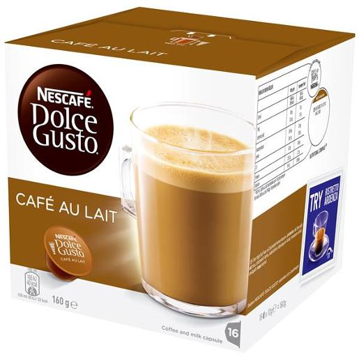 DOLCE GUSTO CAFE AU LAIT COFFEE 16PK