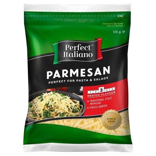 SHREDDED PARMESAN CHEESE 125GM