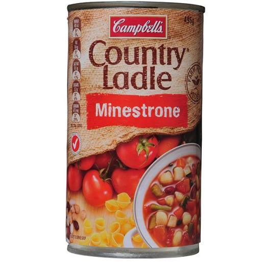 COUNTRY LADLE SOUP MINESTRONE 495G