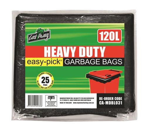 GARBAGE BAGS HEAVY DUTY BLACK 25S