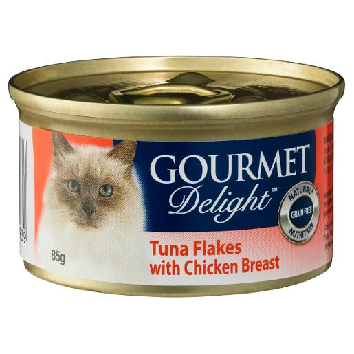 GOURMET D-LITE TUNA FLAKES WITH CHICKEN BREAST 85G
