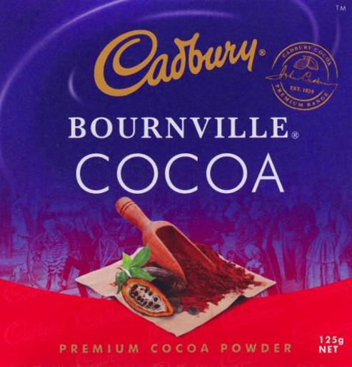 BOURNVILLE COCOA 125GM
