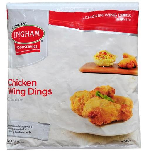 CHICKEN WING DINGS CRUMBED 1KG