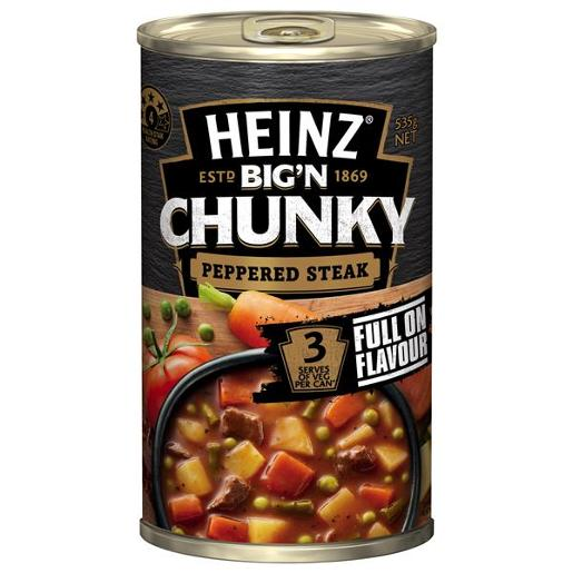 CHUNKY PEPPERED STEAK & ONION SOUP 535G