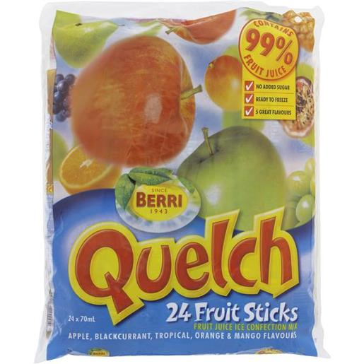 QUELCH FRUIT STICKS 24X70ML