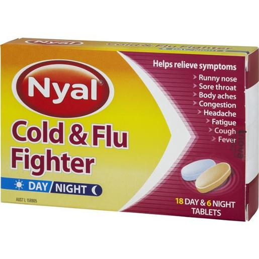 COLD AND FLU DAY AND NIGHT TABLETS 24'S