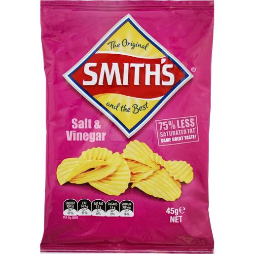 SALT AND VINEGAR CRINKLE POTATO CHIPS 45GM