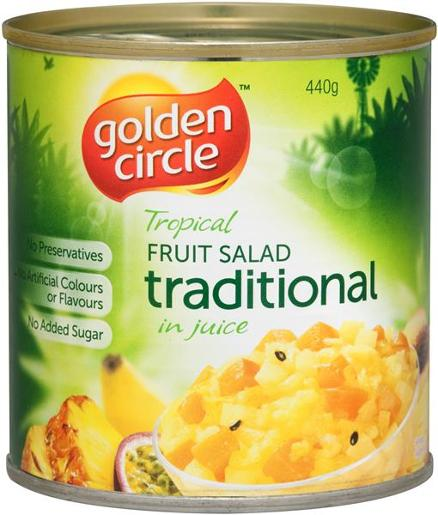 TRADITIONAL FRUIT SALAD IN NATURAL JUICES 440GM