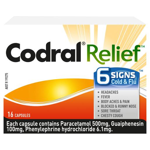 RELIEF 6 SIGNS CAPSULES 16S