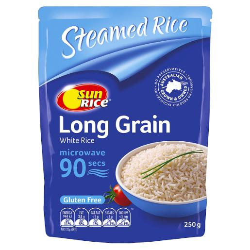 9 SECOND WHITE LONG GRAIN RICE 250GM