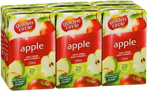 APPLE JUICE 6 PACK 250ML