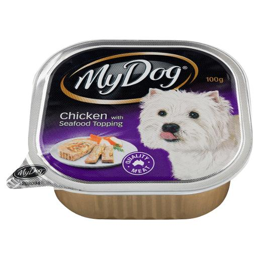 CHICKEN & SEAFOOD TOPPING DOG FOOD 100GM