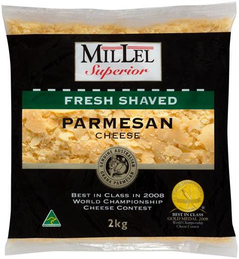 SHAVED PARMESAN CHEESE 2KG