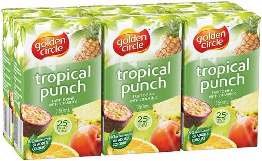 TROPICAL PUNCH JUICE 6 PACK 250ML