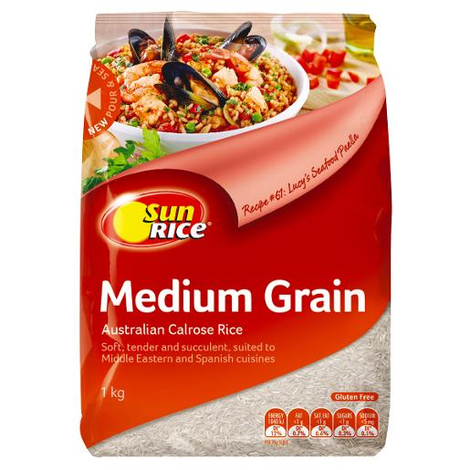 MEDIUM GRAIN WHITE RICE 1KG