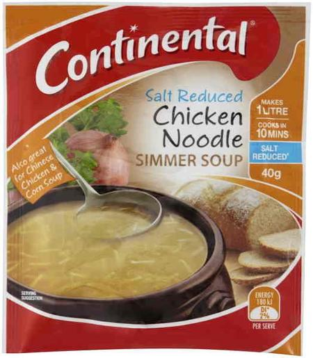 CHICKEN NOODLE SALT REDUCED CUP-A-SOUP 40G