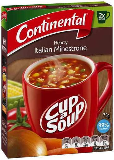 HEARTY ITALIAN MINESTRONE CUP-A-SOUP 2 SERVES 75GM