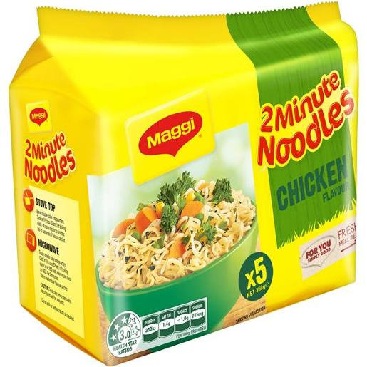CHICKEN 2 MINTUE NOODLES 5 PACK 72GM