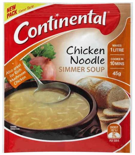 CHICKEN NOODLE SIMMER SOUP 45GM