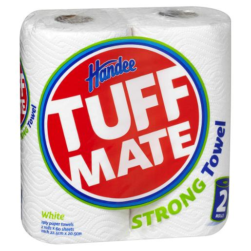 TUFF MATE PAPER TOWEL WHITE 2PLY 2PK