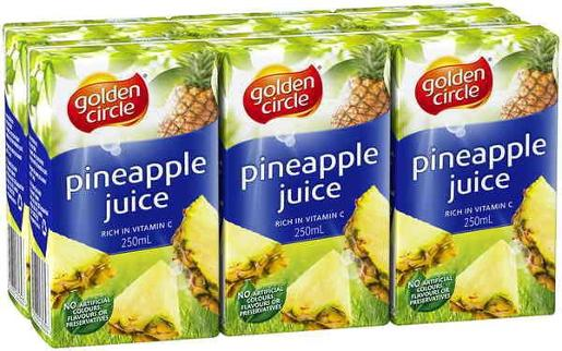 PINEAPPLE MANGO JUICE 6 PACK 250ML
