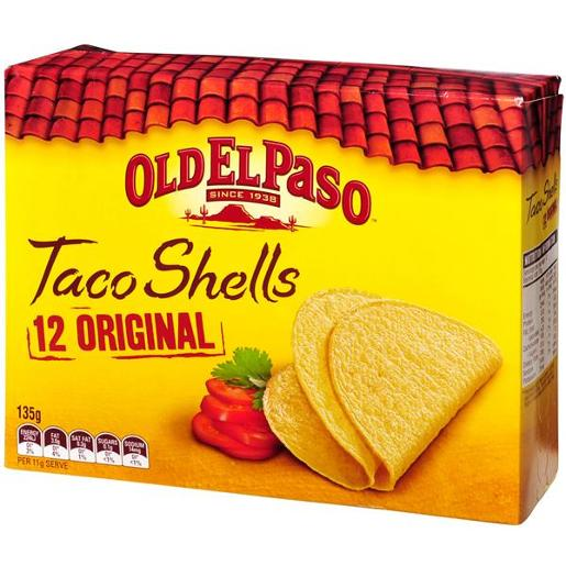 REGULAR TACO SHELLS 135G