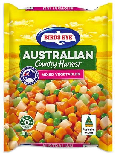 COUNTRY HARVEST MIXED VEGETABLES 500GM