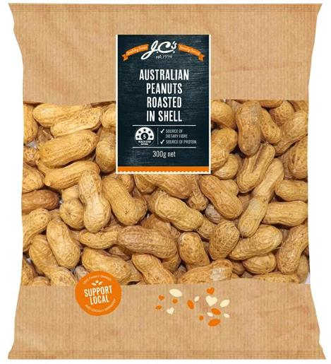 ROASTED PEANUTS IN SHELL 300GM