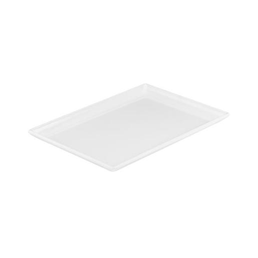 MELAMINE WHITE RECTANGLE PLATTER 300X200MM 1EA