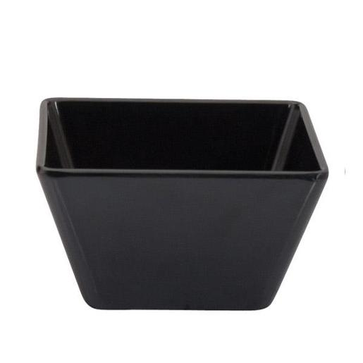 MELAMINE BLACK SQUARE BOWL 100X60