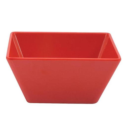 MELAMINE RED SQUARE BOWL 180X85M