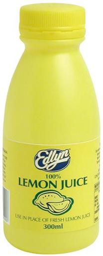 100% LEMON JUICE 300ML
