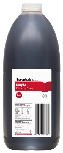 MAPLE FLAVOURED SYRUP TOPPING 3L