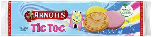 BISCUITS ICED TIC TOC 250GM