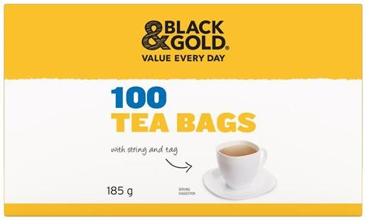 TEA CUP BAGS WITH TAG 100S