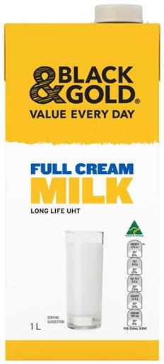 MILK FULL CREAM LONG LIFE UHT 1L