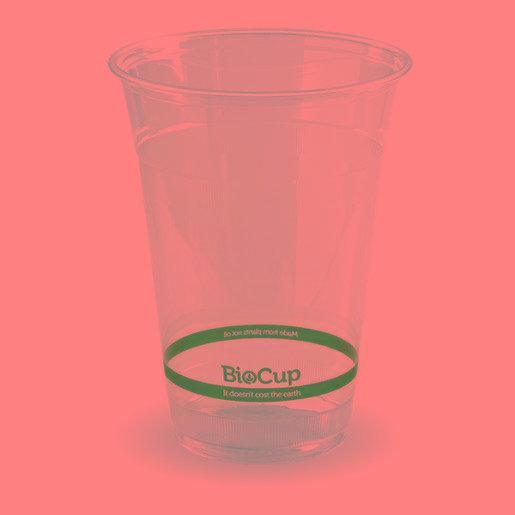 BIOCUP CLEAR PLASTIC CUP 500ML 50S