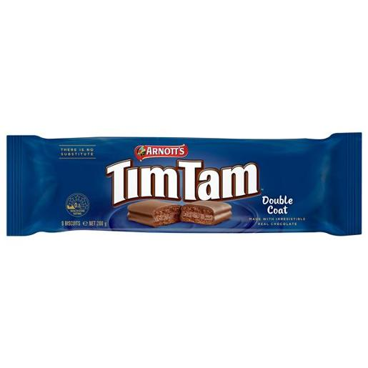 BISCUITS CHOCOLATE TIM TAM DOUBLE COAT 200GM