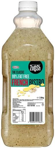 ZOOSH FRENCH FAT FREE DRESSING 2.6KG