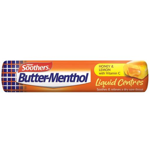 BUTTER MENTHOL HONEY AND LEMON MEDICATED LOZENGES STICK 10PK