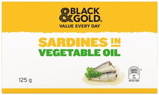 SARDINES IN VEGETABLE OIL 125GM