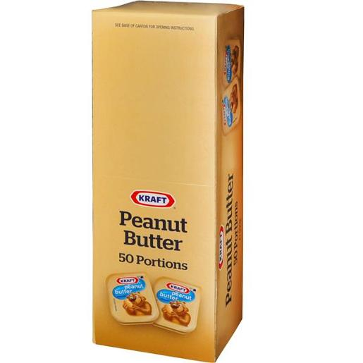 PEANUT BUTTER CRUNCHY PORTIONS THE GOOD NUT 50X11GM