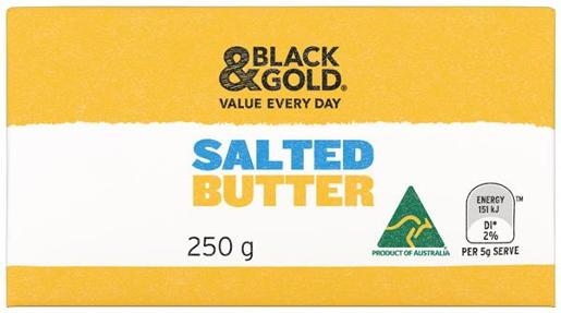 SALTED BUTTER 250GM