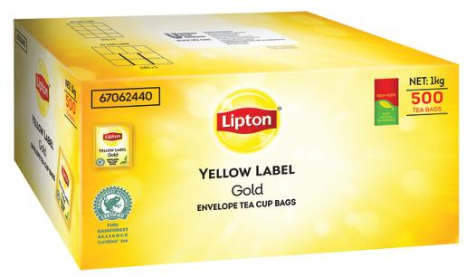 ENVELOPE TEACUP YELLOW LABEL TEA BAG 500S