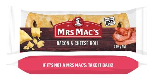 BACON & CHEESE SAUSAGE ROLL 140GM