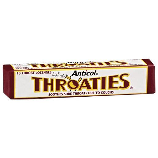 ANTICOL THROATIES MEDICATED THROAT LOZENGES 10S