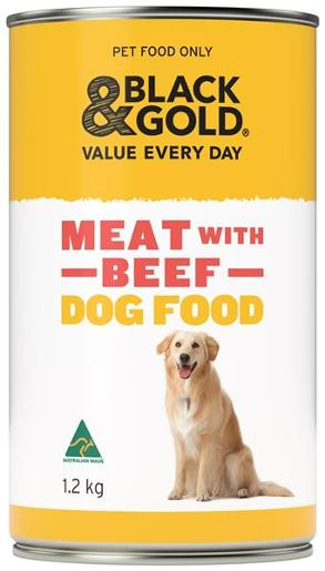WET DOG FOOD MEAT WITH BEEF 1.2KG