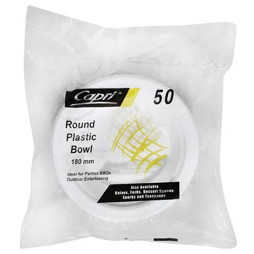 ROUND PLASTIC BOWL 180MM 50S