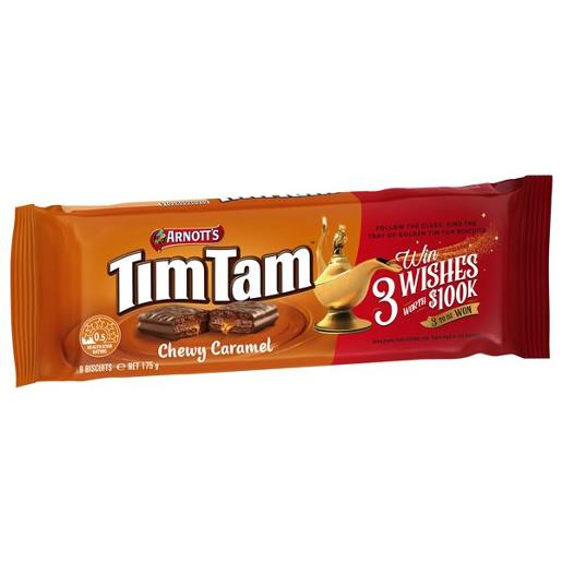 BISCUITS CHOCOLATE TIM TAM CHOCOLATE CHEWY CARAMEL 175GM